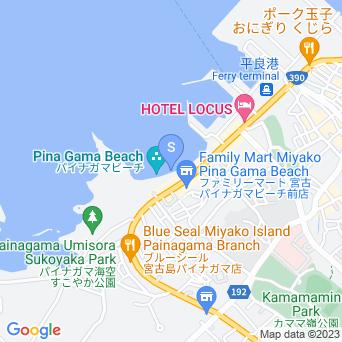 パイナガマビーチの地図