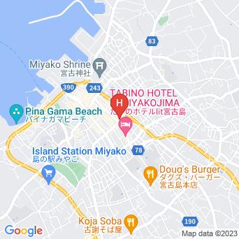ピースリーイン宮古島の地図