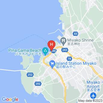 ホテルローカス宮古島の地図