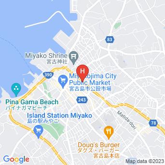 ホテルピースアイランド宮古島市役所通りの地図