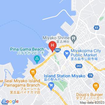 ホテルアトールエメラルド宮古島の地図