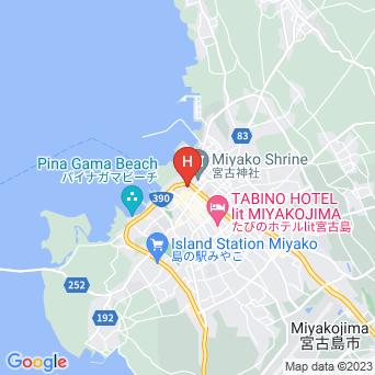 琉球ゲストハウス  鶴美荘の地図