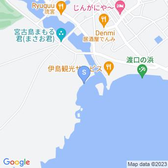 渡口の浜下地島側の地図