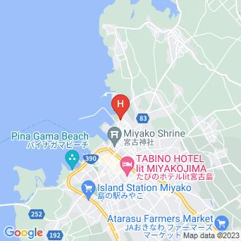 ペンションオレンジBOXの地図