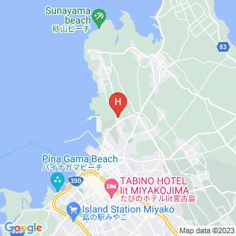 宮古島ゲストハウス サンビリアの地図