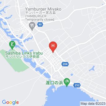 伊良部島のゲストハウス&別荘 つきうみ荘の地図