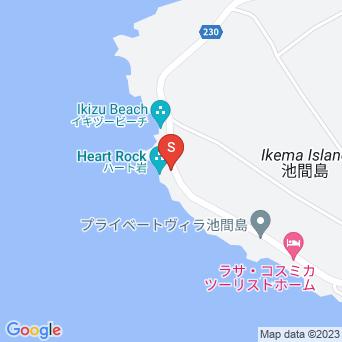 伊良干瀬/ビーチカフェ/ハート岩の地図