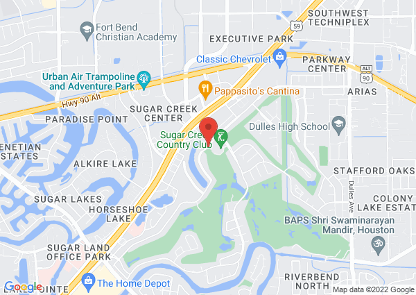 Map of 2414 Country Club Blvd, Sugar Land, TX 77478