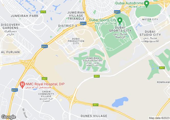Map for Wildflower, Jumeirah Golf Estates, Dubai