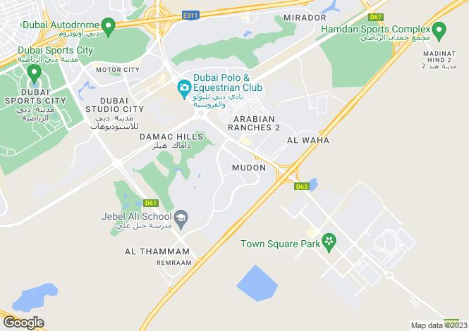 Map for Rahat, Mudon, Dubai