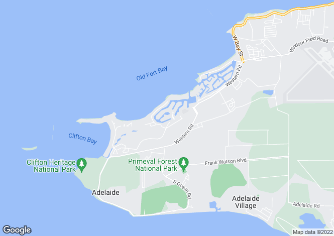 Map for Shamrock Road, Lyford Cay, New Providence, Bahamas