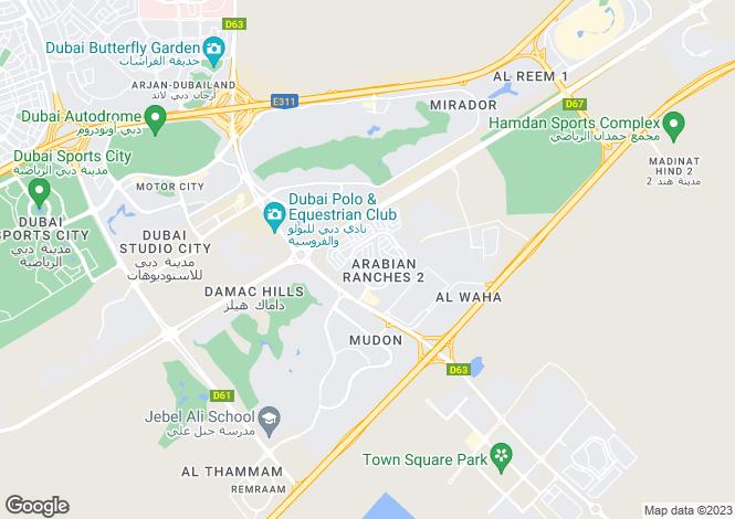 Map for Rasha, Arabian Ranches 2, Dubai