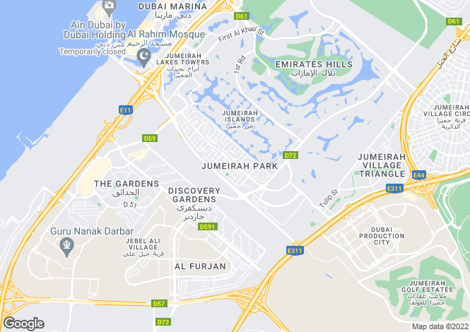 Map for Legacy Large, Jumeirah Park, Dubai