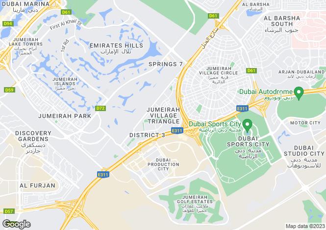 Map for Mediterranean Villas, Jumeirah Village Triangle, Dubai