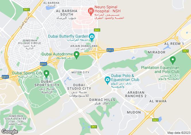 Map for New Bridge Hills 2, Motor City, Dubai