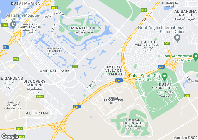 Map for Residential, Akoya Oxygen, Dubai Land, Dubai