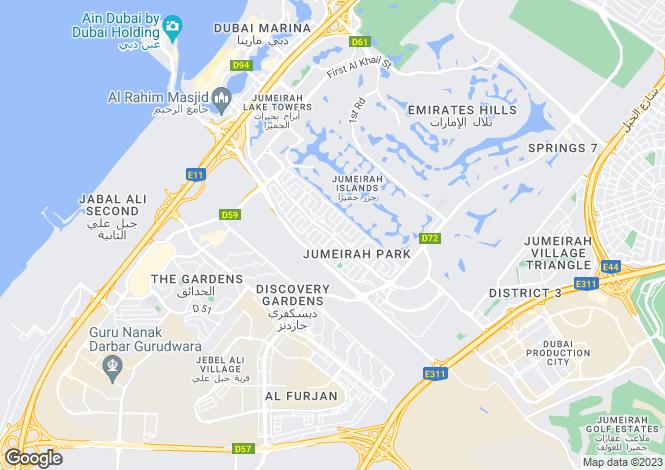 Map for Legacy, Jumeirah Park, Dubai