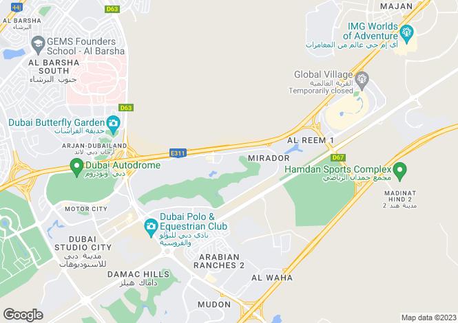 Map for Savannah 1, Arabian Ranches, Dubai