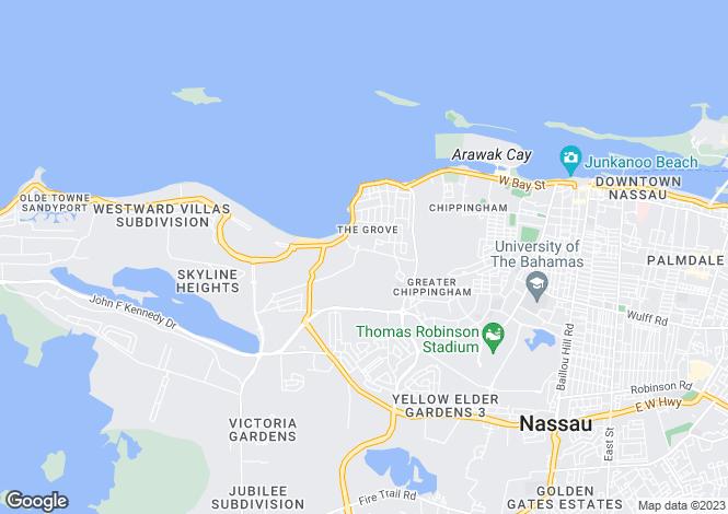 Map for Balmoral Modern Townhouse, Prospect Ridge, New Providence