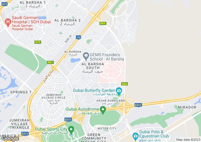 Map for Villa Lantana 1, Al Barsha, Dubai