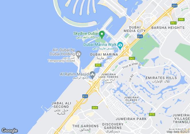 Map for Attessa Tower, Dubai Marina, Dubai