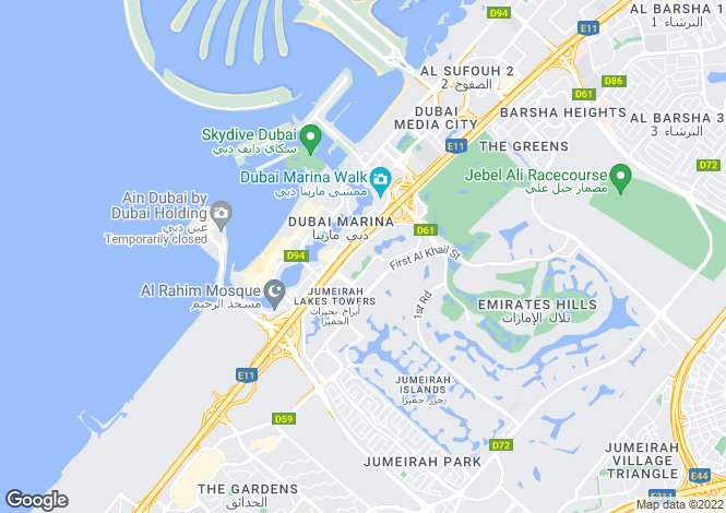 Map for New Dubai Gate 1, Jumeirah Lake Towers, Dubai