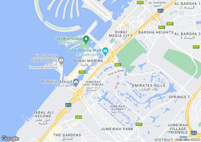 Map for Saba Tower 2, Jumeirah Lake Towers, Dubai