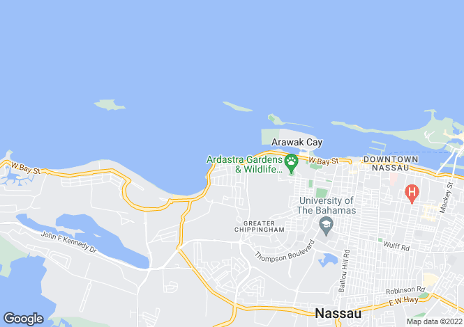Map for Baha Mar, West Bay Street, Nassau
