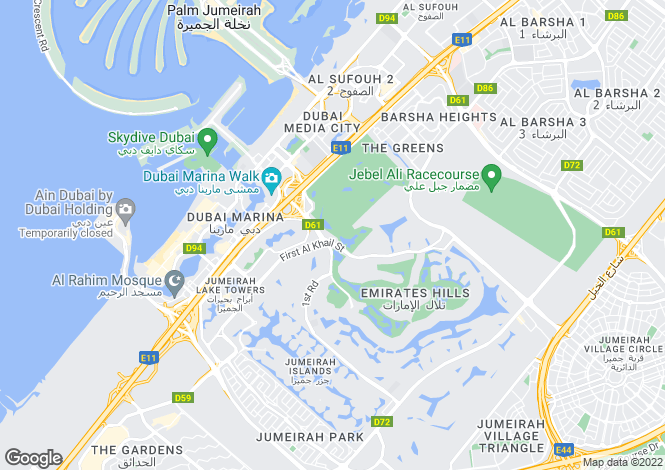 Map for B2, The Hills, Dubai