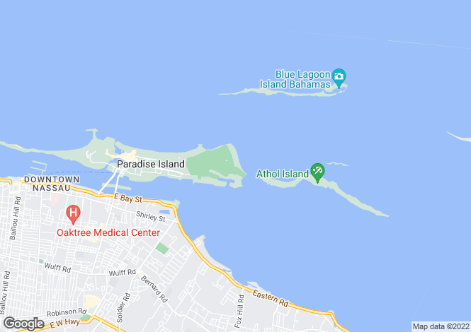 Map for Paradise Island