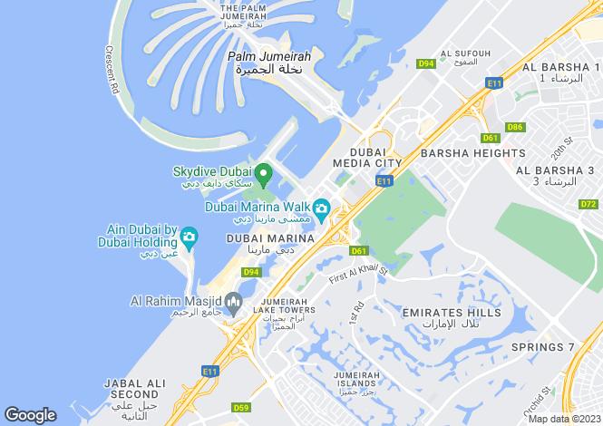 Map for Cayan Tower, Dubai Marina, Dubai