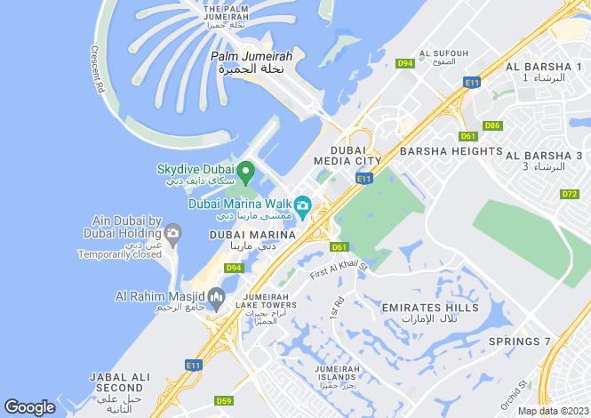 Map for Marina Gate 1, Dubai Marina, Dubai