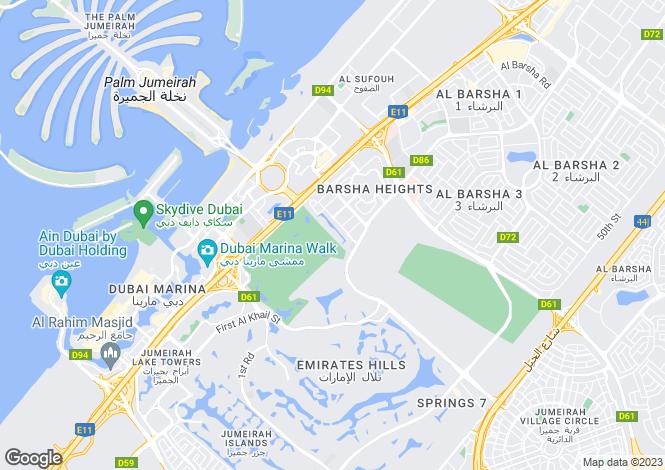 Map for UAE / Dubai - Dubai