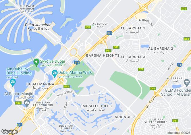 Map for Al Thayyal 4, The Greens, Dubai