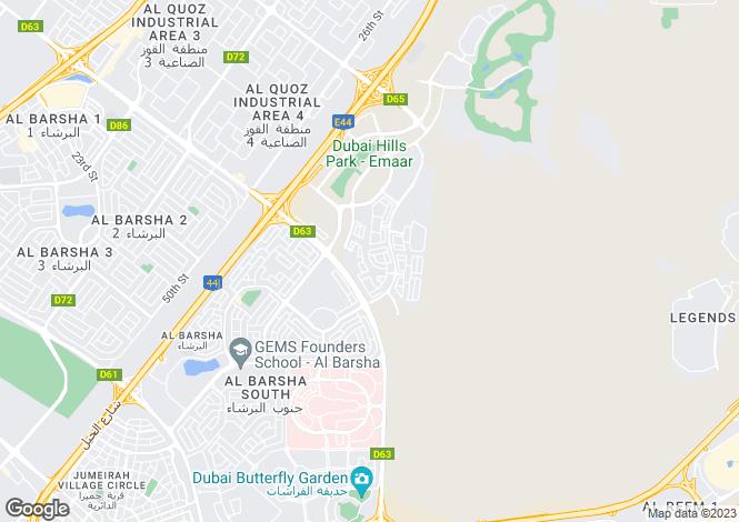 Map for Dubai Hills View, Dubai Hills Estate, Dubai
