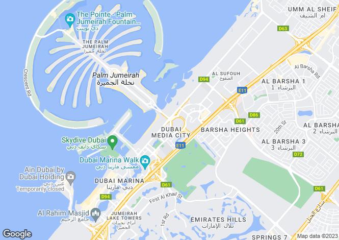 Map for Dubai, Dubai, United Arab Emirates