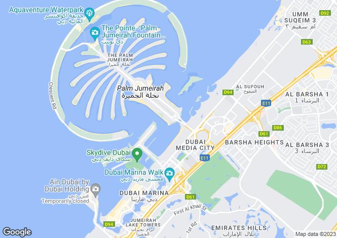 Map for FIVE Palm Jumeirah, Palm Jumeirah, Dubai