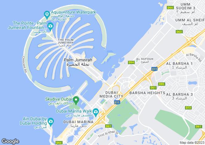 Map for Azure Residences, Palm Jumeirah, Dubai