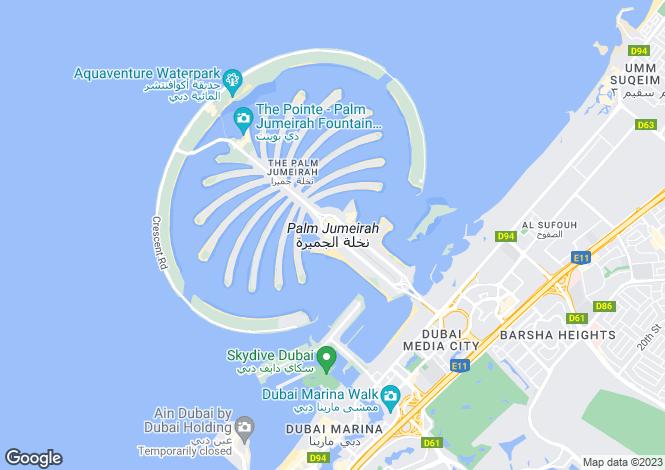 Map for Taj Grandeur, Palm Jumeirah, Dubai