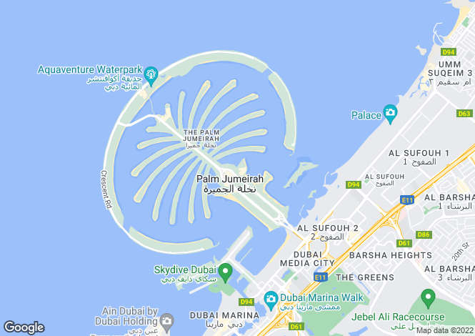 Map for Diamond, Palm Jumeirah, Dubai