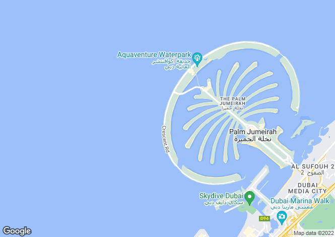 Map for The 8, Palm Jumeirah, Dubai