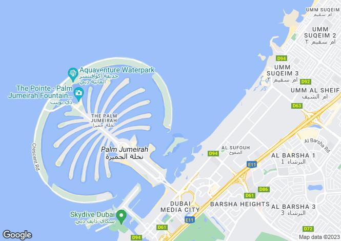 Map for Dream Palm Residence, Palm Jumeirah, Dubai