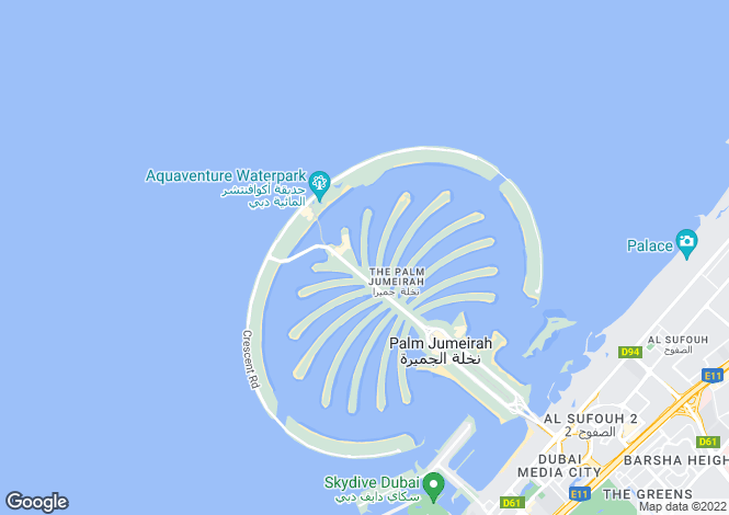 Map for Signature Villas Frond G, Palm Jumeirah, Dubai
