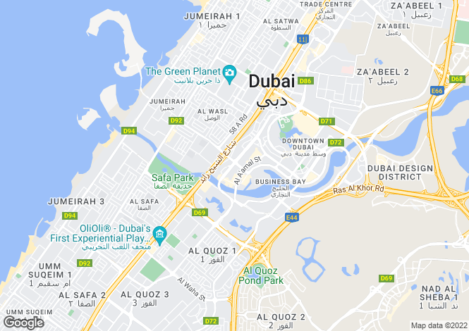 Map for One Business Bay, Business Bay, Dubai