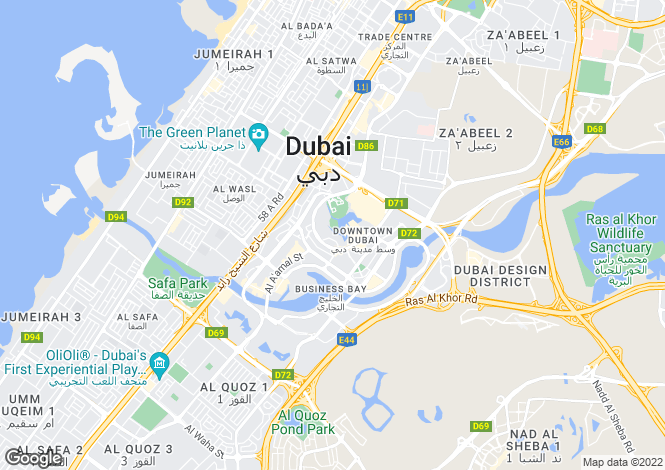Map for UAE / Dubai - Dubai