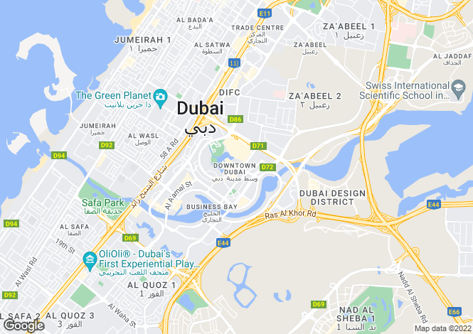 Map for The Residences, Downtown Dubai
