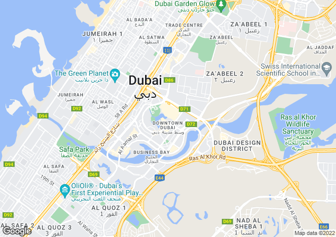 Map for The Residences 1 By Emaar, Burj Khalifa, Downtown Dubai