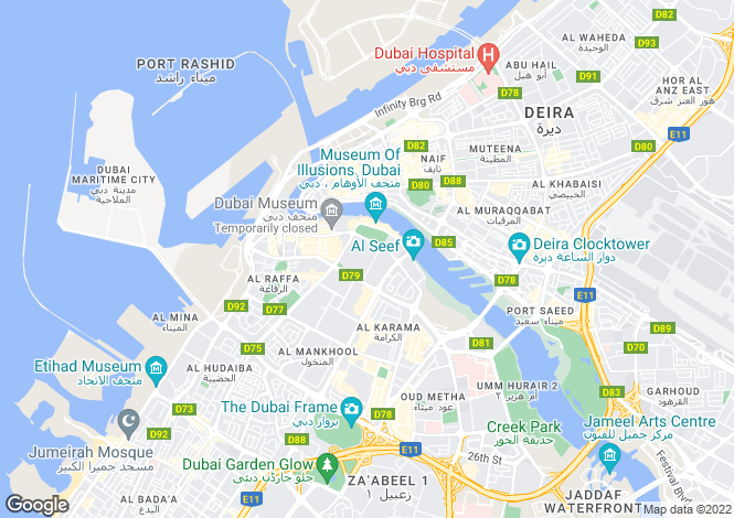 Map for Dubai Marina, Dubai, United Arab Emirates