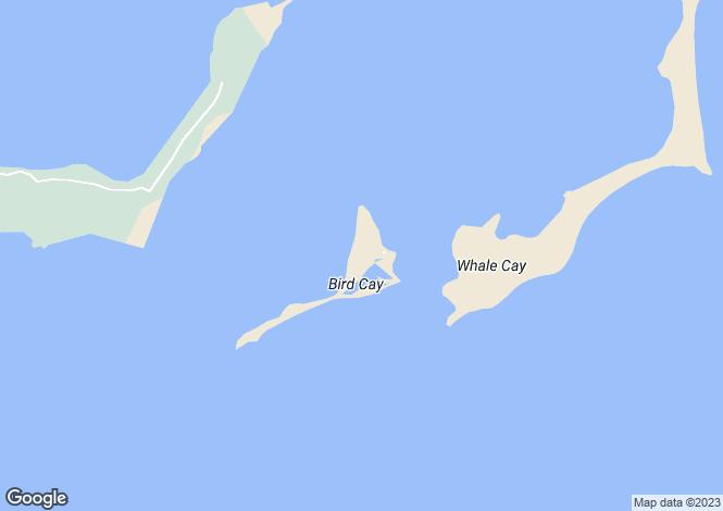 Map for PRIVATE ISLAND Bird Cay - Bahamas, Bahamas