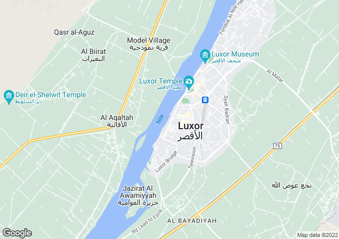 Map for Luxor